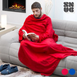 One Big Snug Snug Blanket with Sleeves