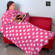 OUTLET Extra Soft Snug Snug Blanket with Sleeves for Adults | Original Patterns (No packaging)