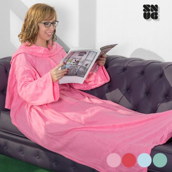 One Big Snug Snug Blanket with Sleeves
