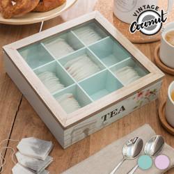 Vintage Coconut Flower Tea Box
