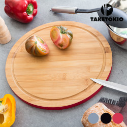 TakeTokio Round Bamboo Chopping Board