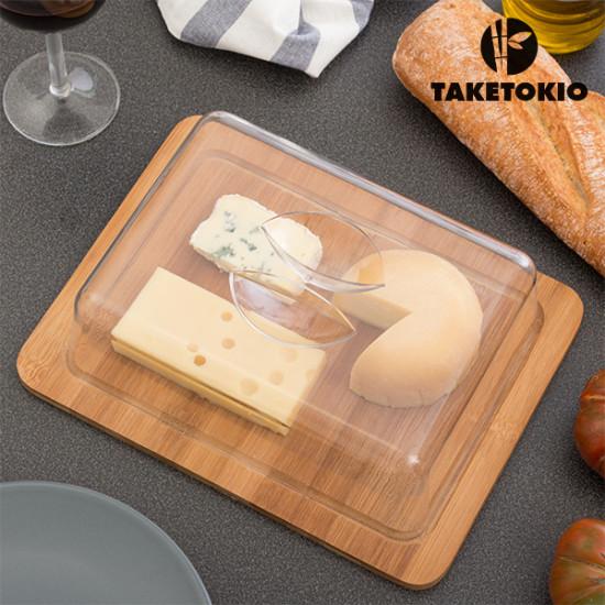 TakeTokio Bamboo Cheese Dish